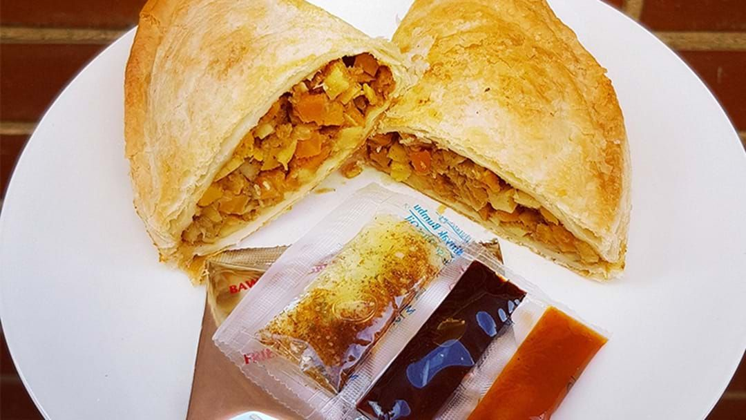 Article heading image for PSA: This Drool-Worthy Mi Goreng Pasty Exists & It's Entirely Vegan