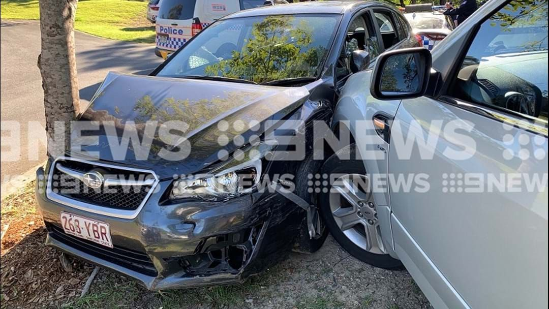 Article heading image for Teen Arrested In Worongary After Allegedly Stolen Car Rammed By Undercover Police Vehicle