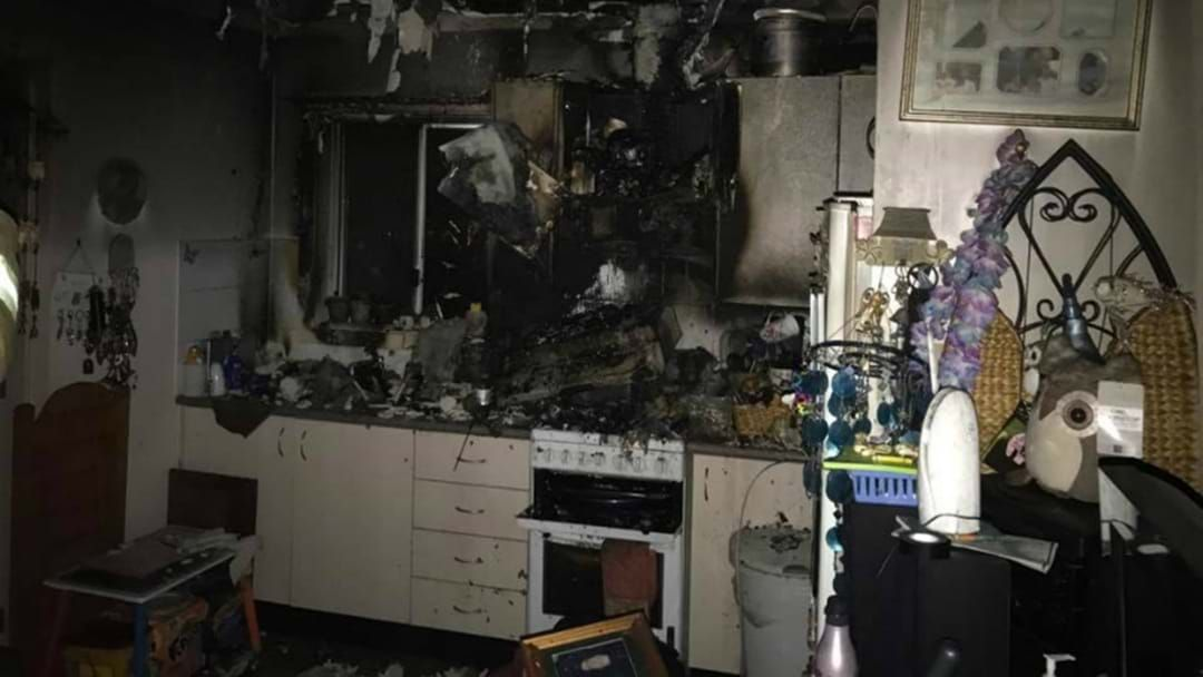 Article heading image for Elderly Woman Rescued From Burning Unit