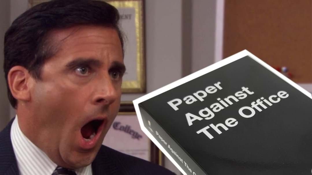 Article heading image for 'The Office' Cards Against Humanity Exists & Blink Once If You're Excited