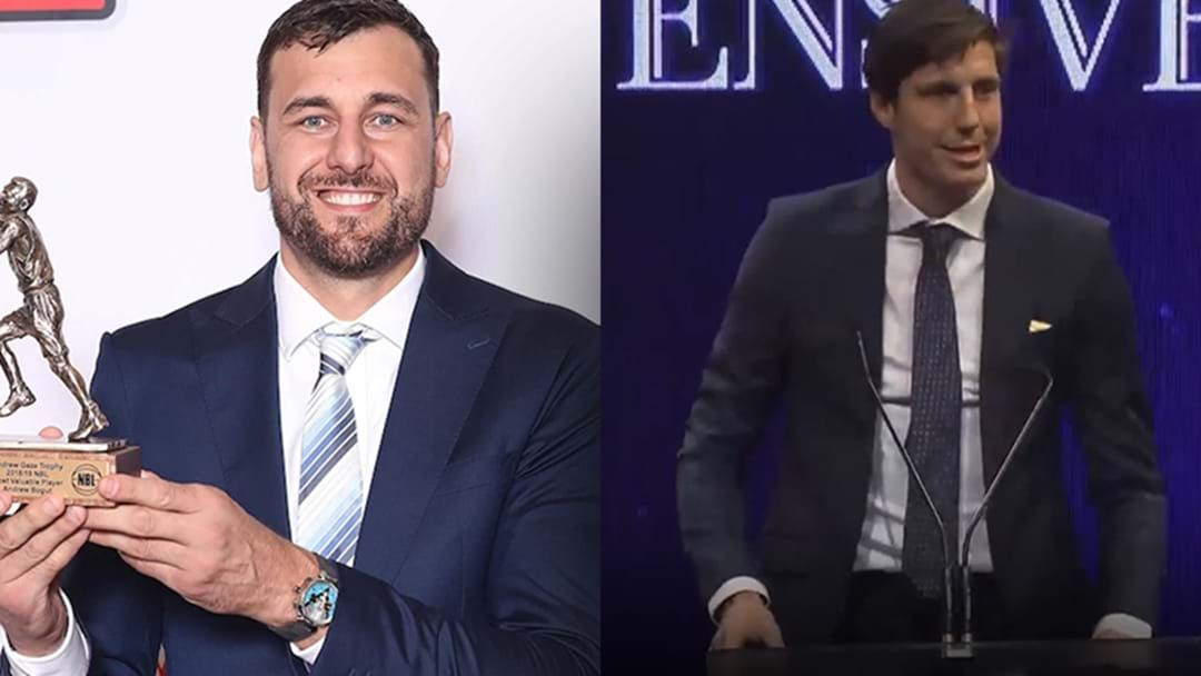 Article heading image for LISTEN | Andrew Bogut Hits Backs At Critics After Teammate Dane Pineau Accepted His Award