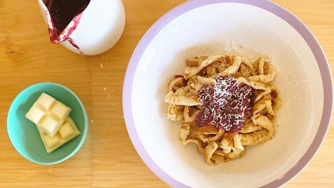 Article heading image for Stop Right Now, Pancake Pasta Is The Next Breakfast Staple You Just Have To Try