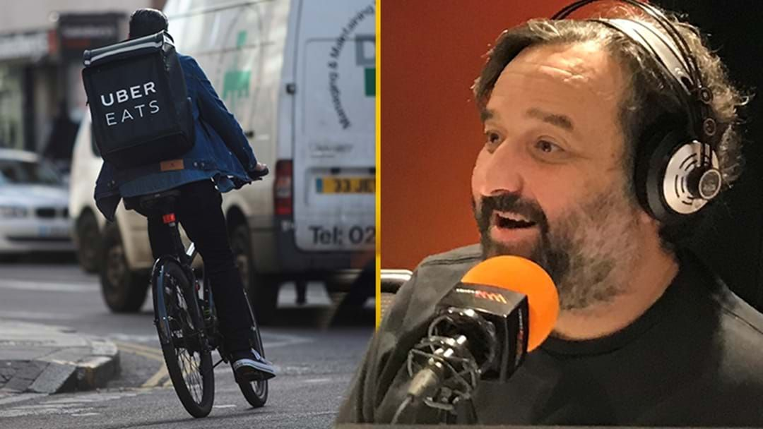 "Article heading image for Mick Molloy's ""Massive Uber Eats Catastrophe"""