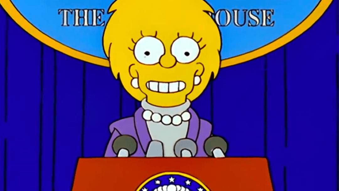 Article heading image for Check Out The Spooky Simpson's Prediction From Over 2 Decades Ago On Yesterday's US Inauguration!