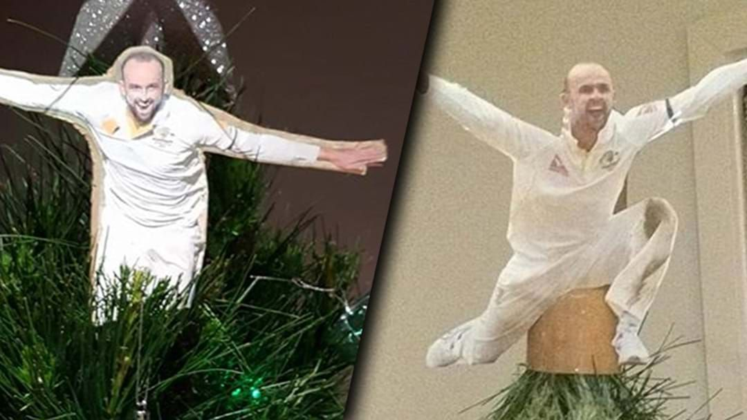 Article heading image for People Are Putting Nathan Lyon On The Top Of Their Christmas Trees