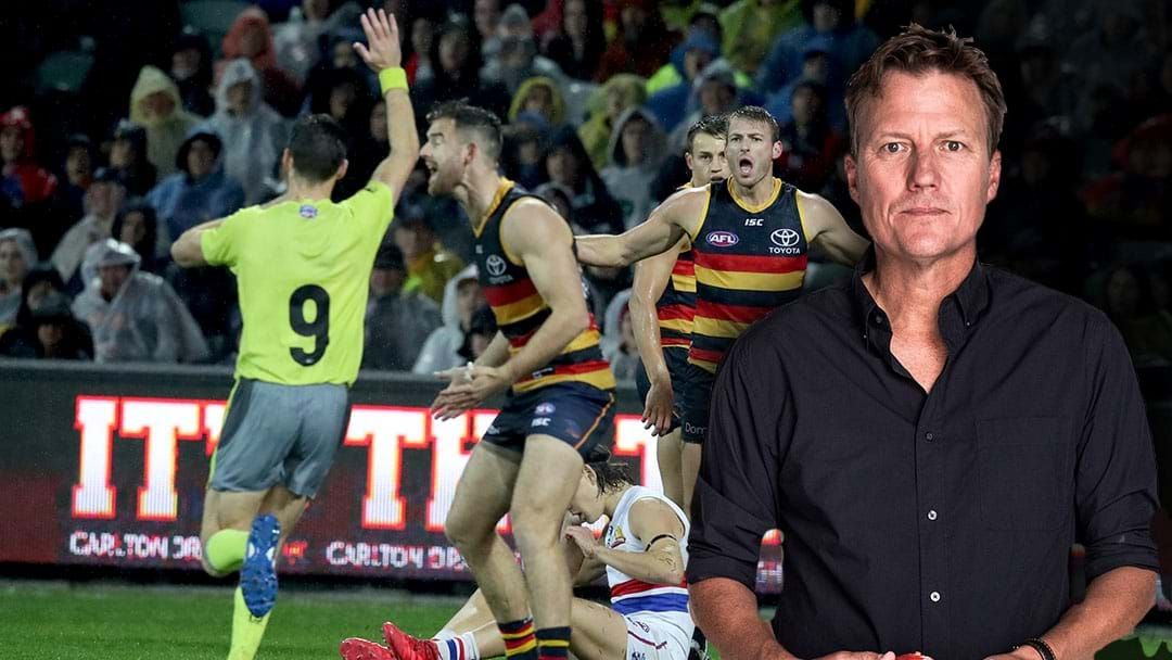 Article heading image for LISTEN   James Brayshaw Says The Umpires Should 'Halve The Amount Of Free Kicks Paid'