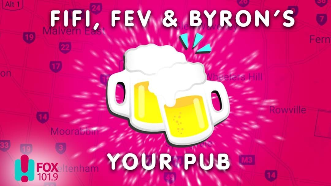 Competition heading image for Fifi, Fev & Byron's YOUR PUB