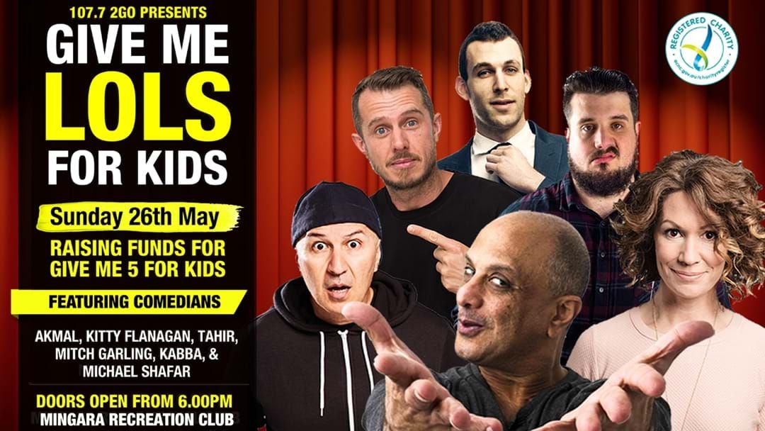 Article heading image for 2GO's Give Me LOLs For Kids Comedy Night!