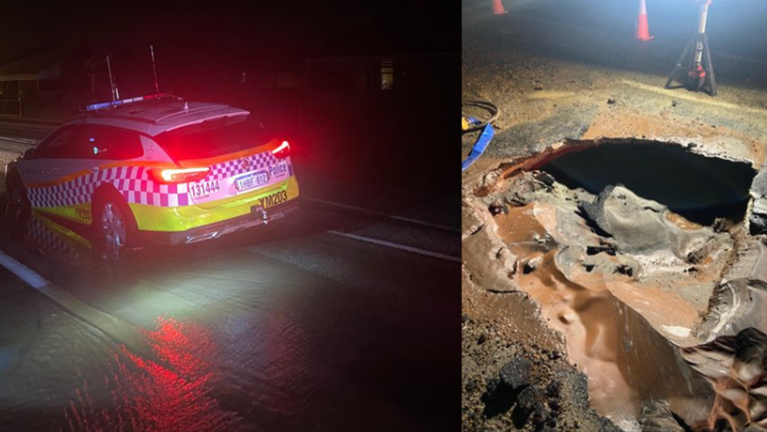 Article heading image for Tow Truck Called After A Police Car Got Stuck In A Wheatbelt Sink Hole
