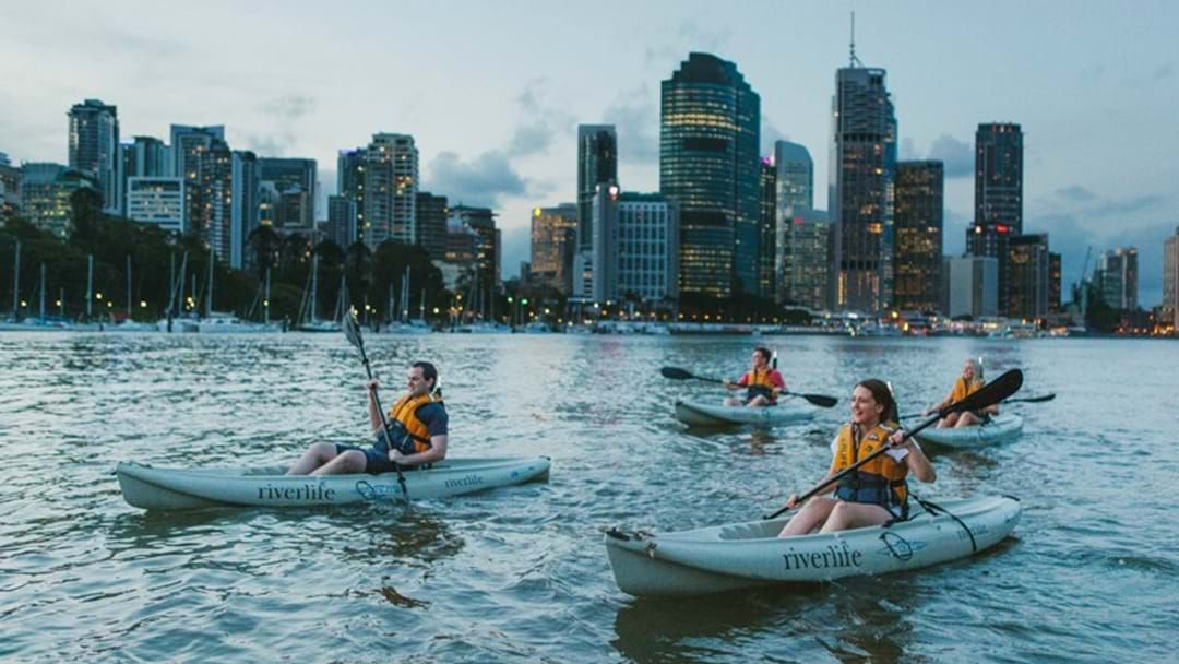 Article heading image for You Can Go Kayaking On The Brisbane River This NYE In An Amazing Spot!