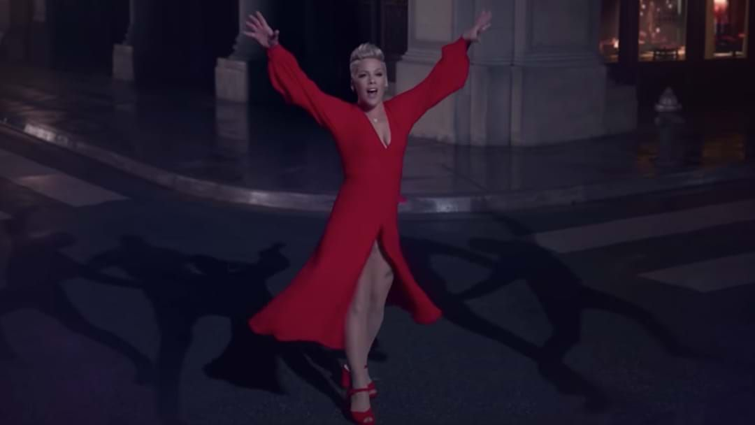 Article heading image for If You Thought P!nk Was A Good Dancer, Wait Til You See Her SHADOW Dance In Her New Clip!