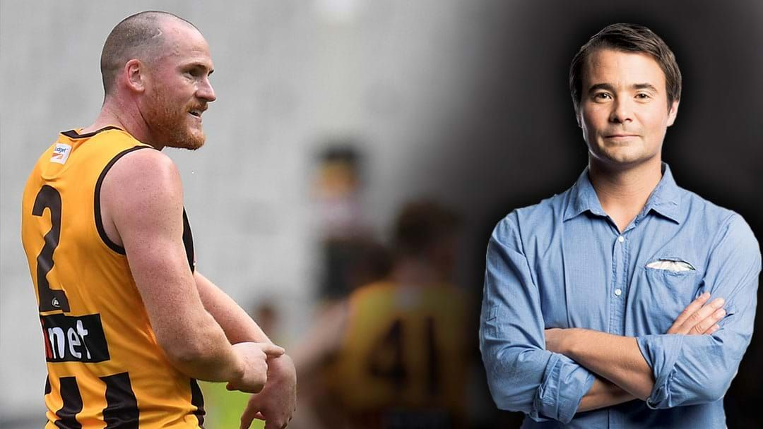 Article heading image for LISTEN | Jay Clark Thinks Jarryd Roughead Will Play For Hawthorn Next Week