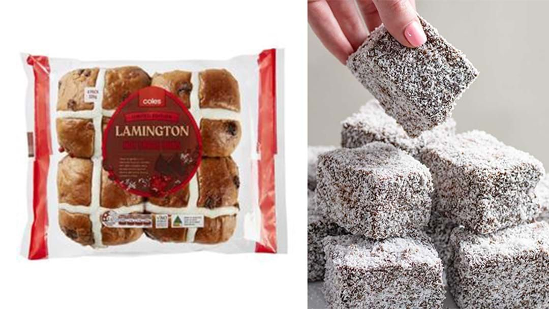 Article heading image for Apparently, Lamington Hot Cross Buns Are Now A Thing And We Are Screaming