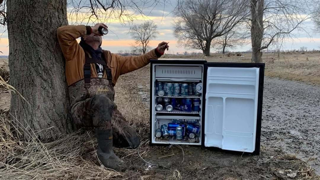 Article heading image for These Guys Found A Fridge Of Ice Cold Beer That Survived A Flood