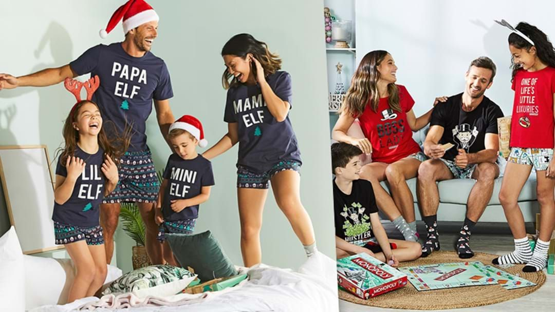 Article heading image for Tell Your Festive Friends... Big W Are Stocking A Range Of Matching Xmas PJ's For You, Your Kids And Even The Dog