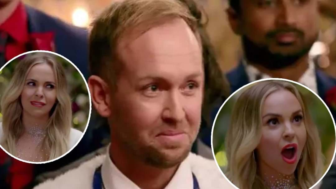 Article heading image for The Reactions To Creepy Noosa Man's Comments To Angie On The Bachelorette Are TOO Real