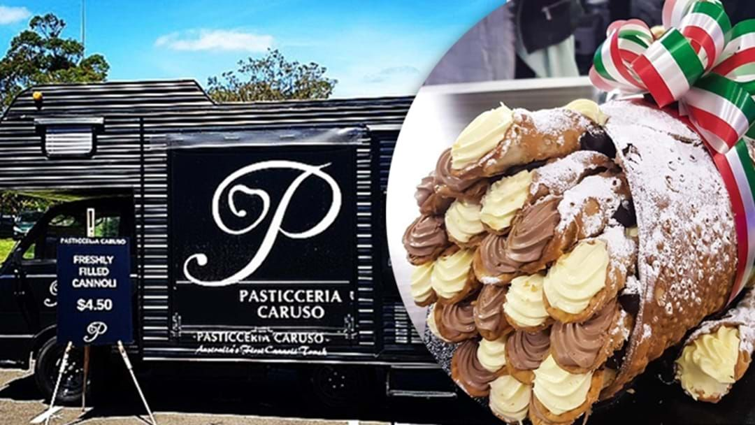 Article heading image for That Bloke Who Invented Huge Cannoli Now Has A Cannoli Food Truck On The Go