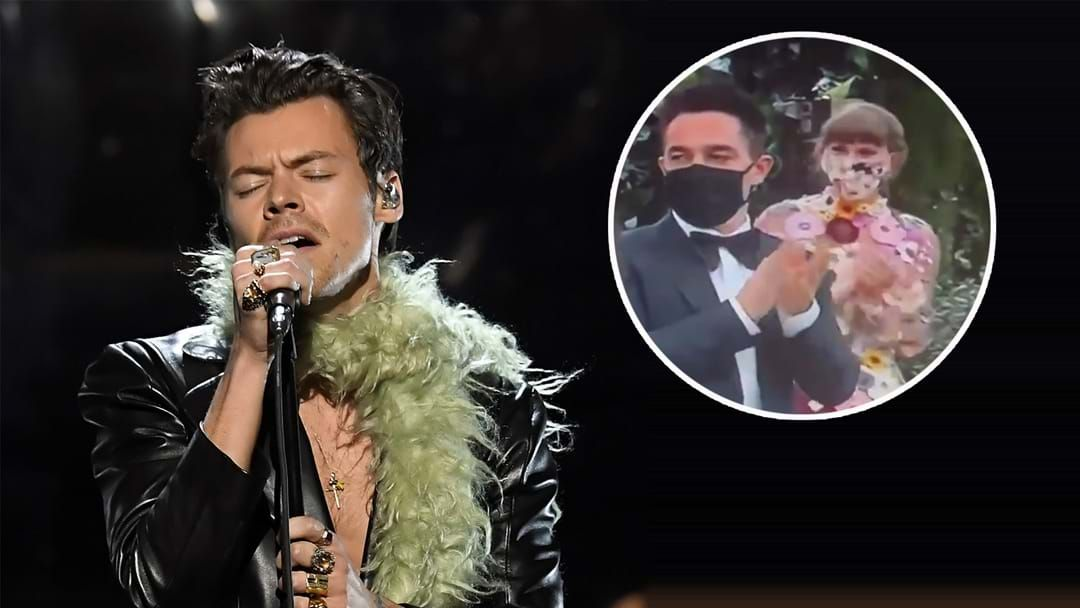 Article heading image for No Hard Feelings As Taylor Swift Applauds Harry Styles At The Grammys