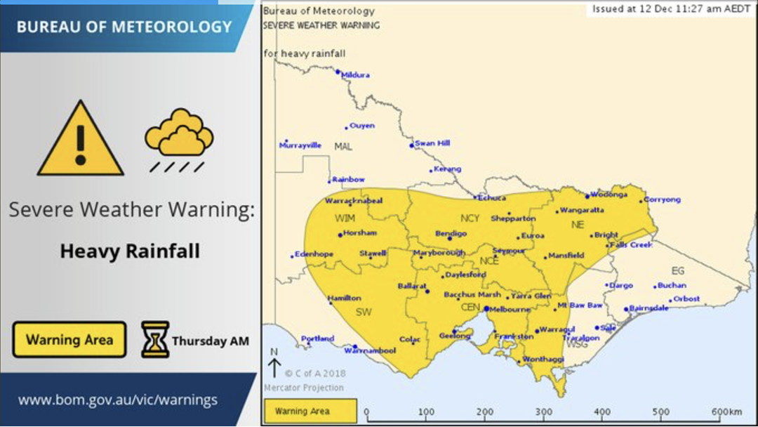 Article heading image for Severe Thunderstorm Warning for HEAVY RAINFALL