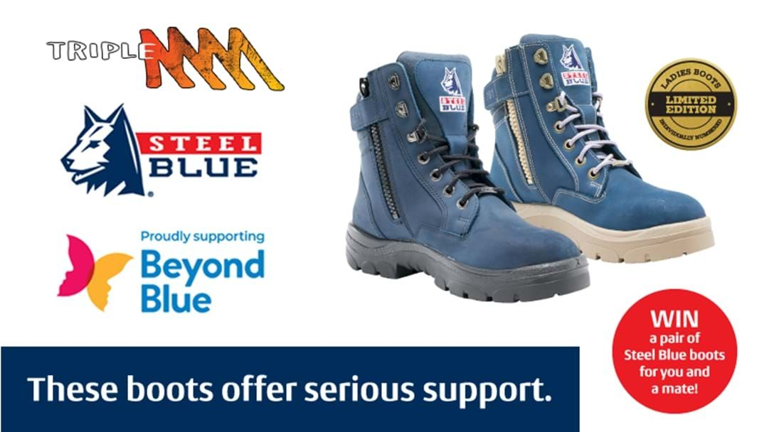 Win Steel Blue boots for you and a mate!