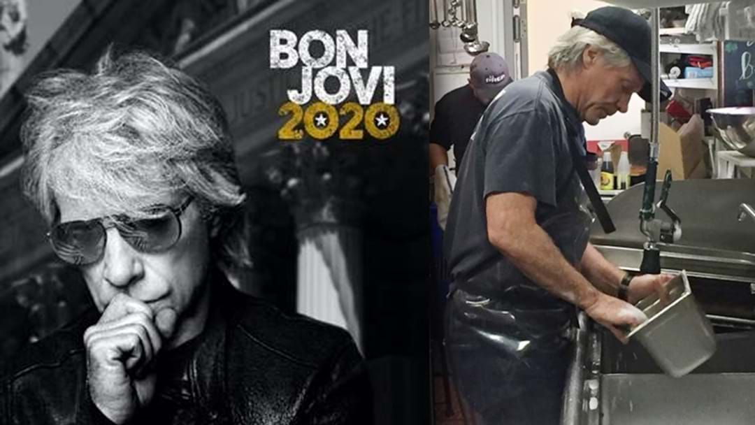 Article heading image for Bon Jovi Announces New Album And Rolls His Sleeves Up. Legend!