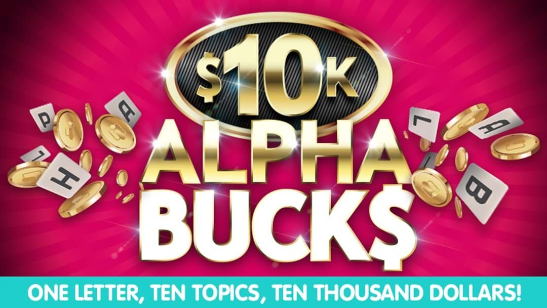 Competition heading image for Your chance to WIN $10,000! It's as easy as ABC!