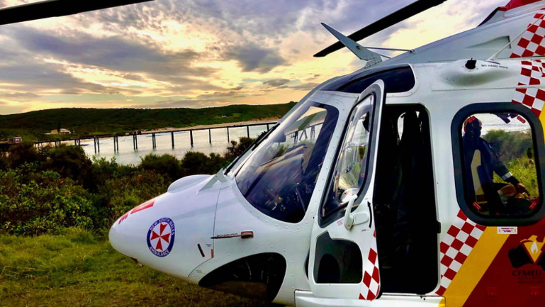 Article heading image for Helicopter Rescues Two Women Washed Off Rocks in Catherine Hill Bay
