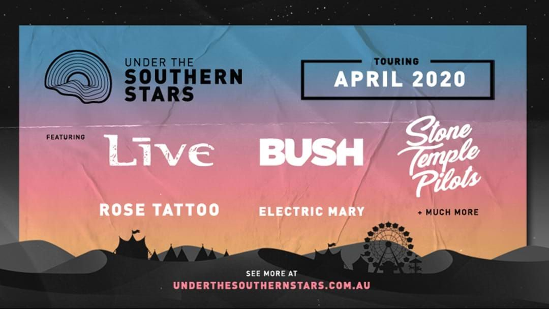 Article heading image for LIVE, Bush & Stone Temple Pilots Return To Australia For Under The Southern Stars National Tour
