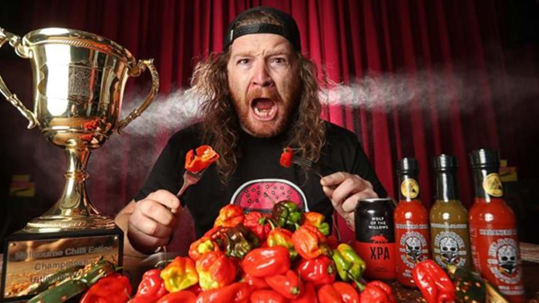 Article heading image for The Melbourne Chilli Eating Championship Returns This Sunday