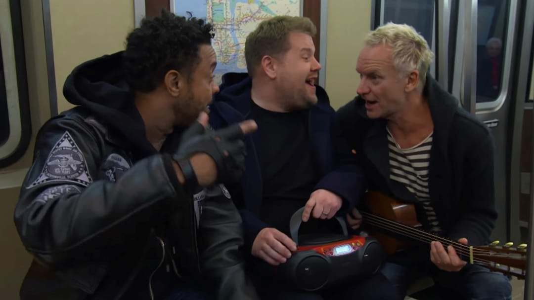 Article heading image for WATCH: Sting's Hilarious Take Of Car Pool Karaoke