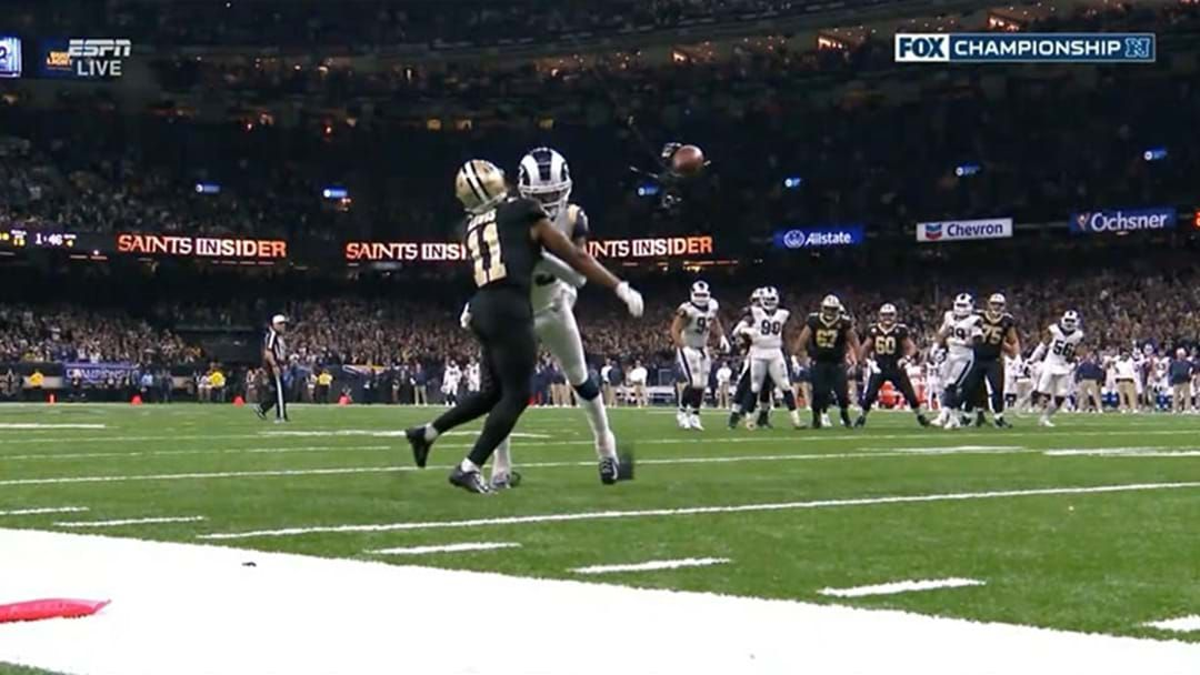 Article heading image for A Missed Call Just Pretty Much Cost The New Orleans Saints A Spot In The Super Bowl