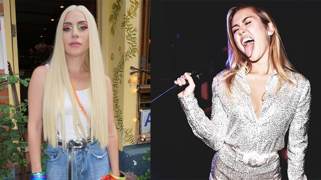 Article heading image for There's A Rumour Lady Gaga And Miley Cyrus Are About To Drop A DUET!