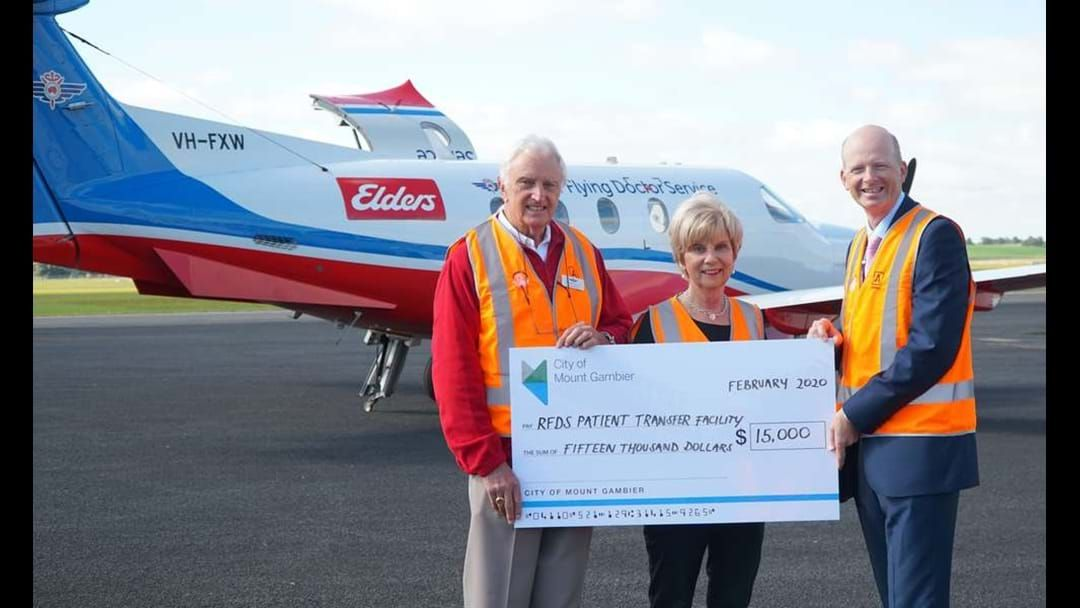Article heading image for Council donates funds to RFDS facility