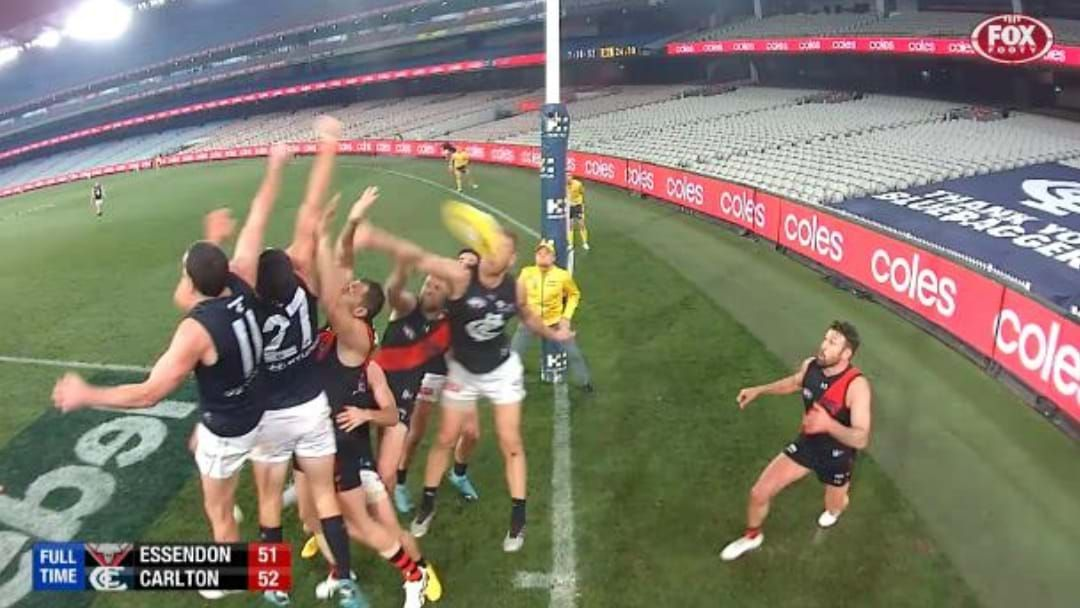 Article heading image for The Last Two Minutes Carlton's One Point Win Over Essendon