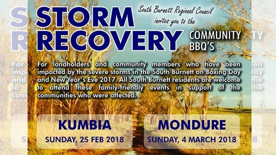 Article heading image for South Burnett Storm Recovery Community BBQ