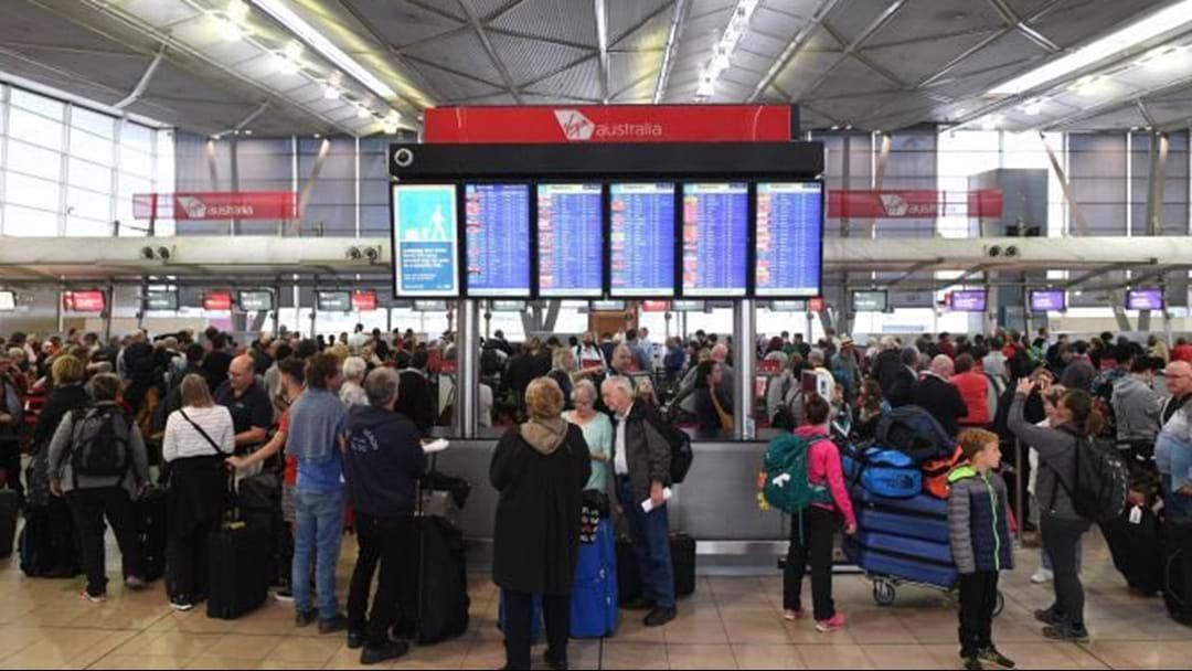 Airport queues blamed on processing system outage