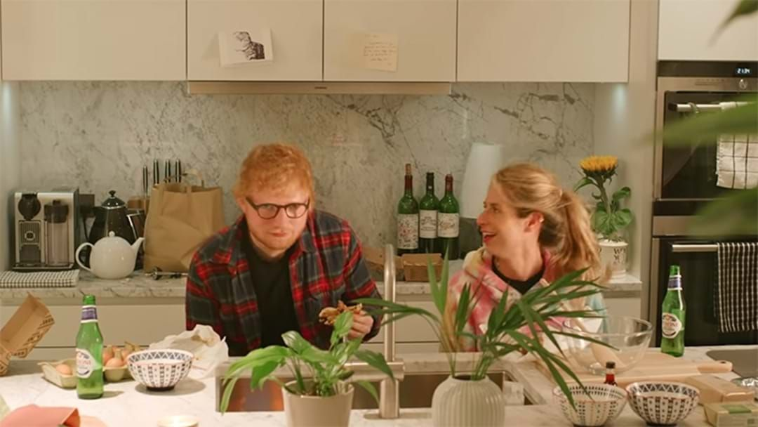 Article heading image for Ed Sheeran Shares Cute Moments With His Wife In 'Put It All On Me' Video