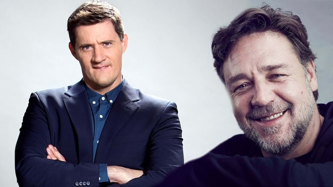 Article heading image for Hollywood A-Lister Russell Crowe Fan Girls Over Our Very Own Ed Kavalee!