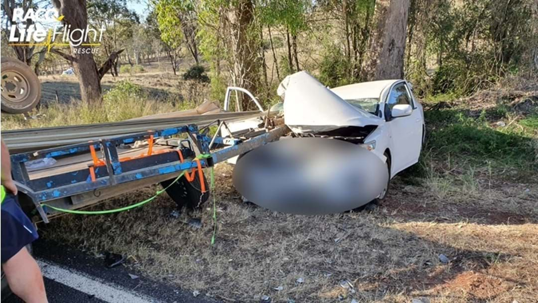 Article heading image for Two Vehicle Crash North of Crows Nest Closes Highway