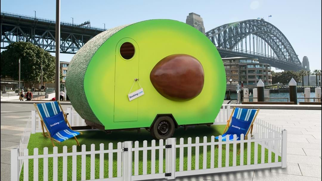 Article heading image for You Can Now Sleep In The World's First Giant Avocado Right In Sydney's Harbour