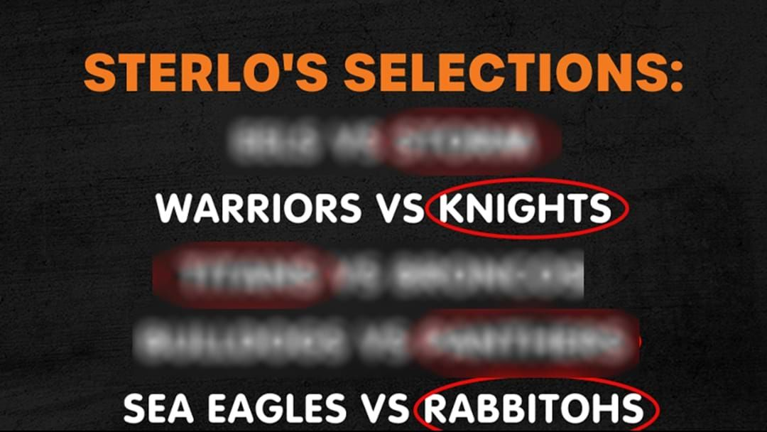 Article heading image for Sterlo's Selections For Round 2!