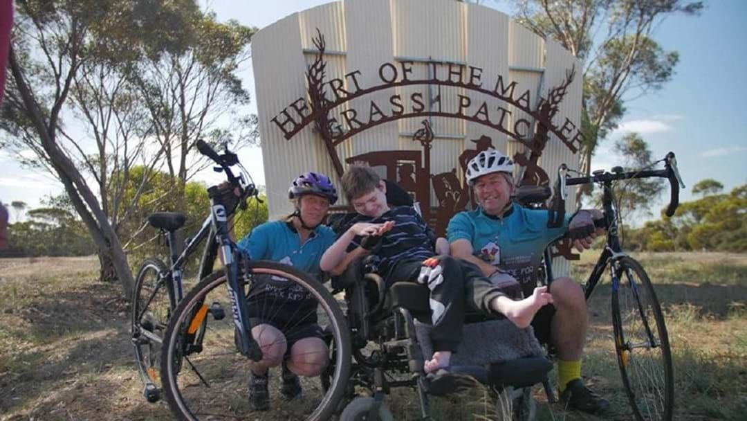 Article heading image for Grass Patch man to ride around the Wheatbelt for FOUR DAYS to raise money for charity