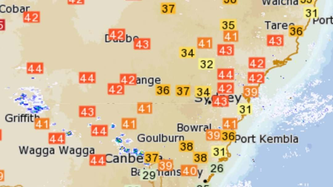 Article heading image for Metropolitan Sydney Has Recorded Its Highest Temperature Ever Today