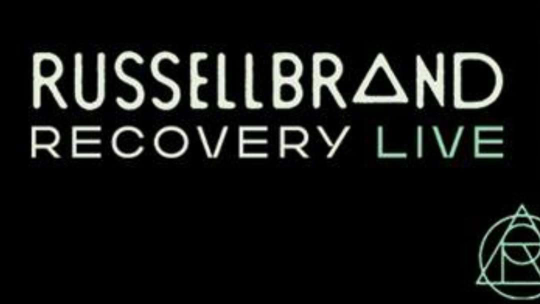"Article heading image for Russell Brand Is Bringing His Thought Provoking ""Recovery Live"" Show To Perth Early Next Year"