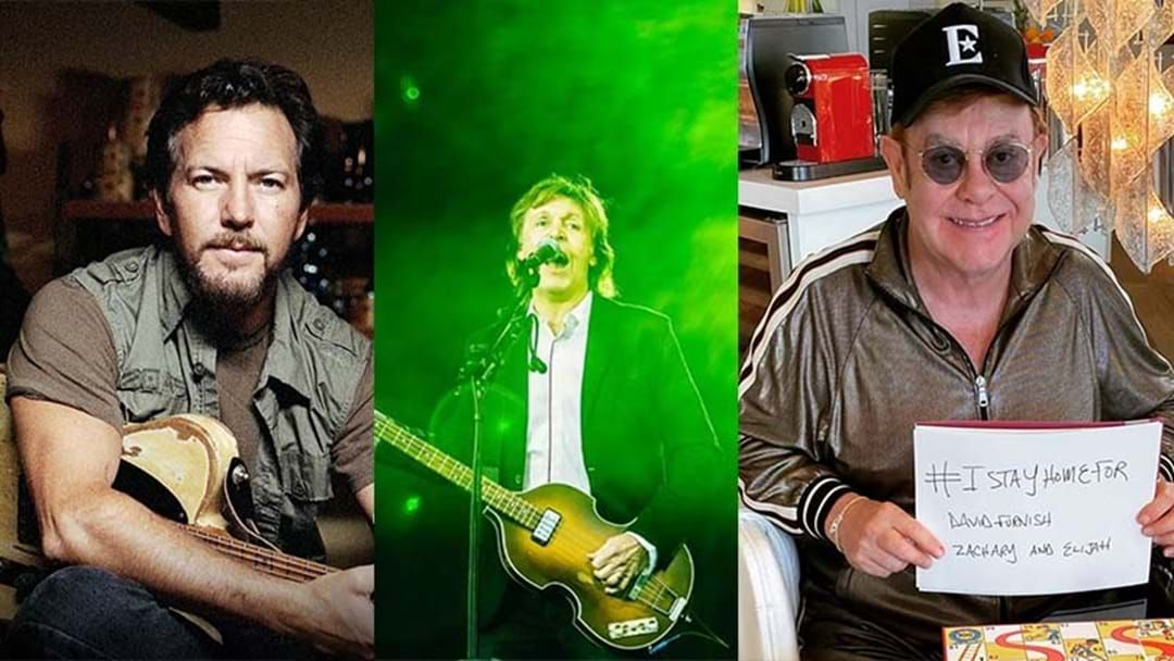 Article heading image for Elton John, Paul McCartney, Eddie Vedder, Billie Joe Armstrong, Chris Martin And Heap More To Play Lady Gaga's Live Stream Music Festival Next Week