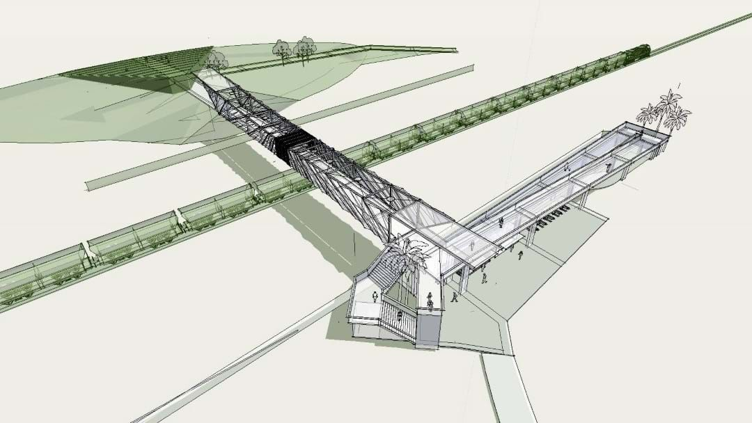 Article heading image for A Foot Bridge Is On The Cards To Get You Into The New Stadium