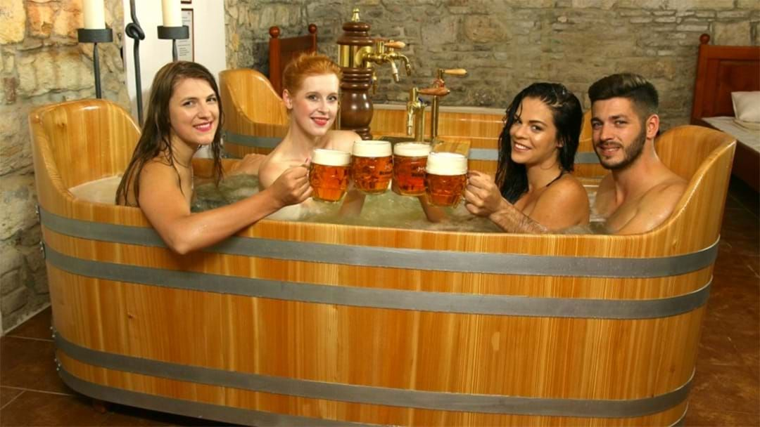 Article heading image for This Day Spa Lets You Bathe In Beer While Drinking It At The Same Time