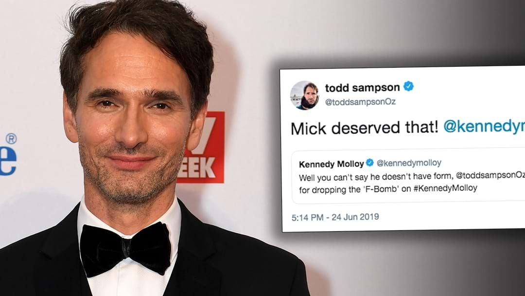 Article heading image for Todd Sampson Dropped ANOTHER F-Bomb On Kennedy Molloy!