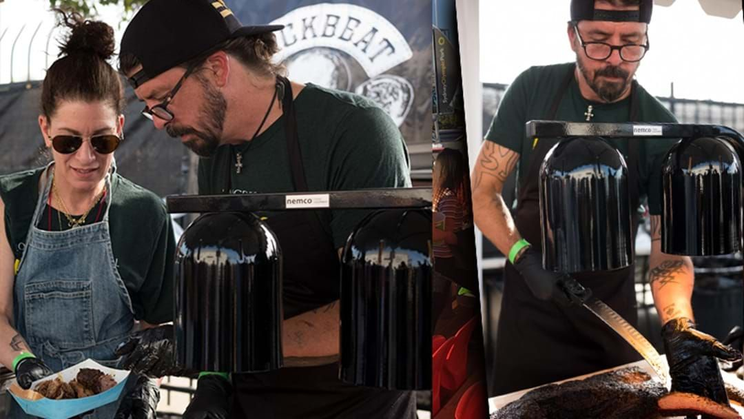 Article heading image for Good Guy Dave Grohl Spent Christmas Barbecuing For 36 Hours For Charity