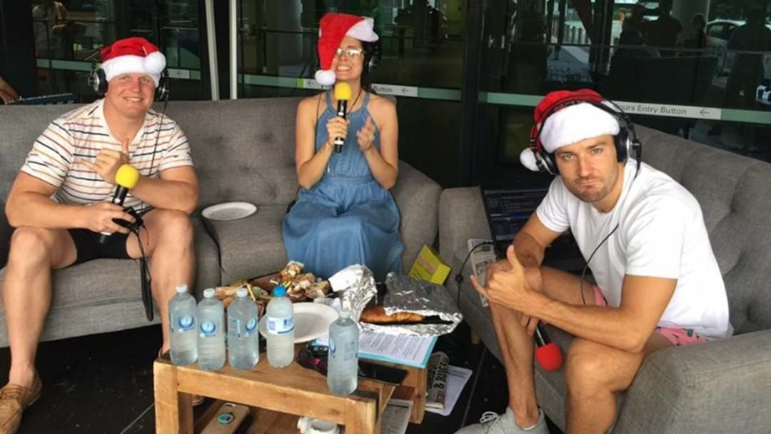 Article heading image for Heather, Dan & Ben Spend Time With The Gold Coast Hospital Foundation For Christmas!